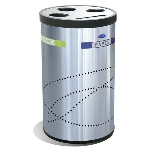 Basurero Ecologico Jumbo Reciclable Acero Inoxidable